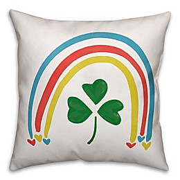 Designs Direct St. Patrick's Rainbow Clover Square Throw Pillow