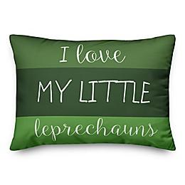 Designs Direct St. Patrick's I Love My Little Leprechauns Oblong Throw Pillow