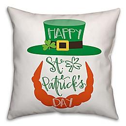 Designs Direct St. Patrick's Leprechaun Square Throw Pillow