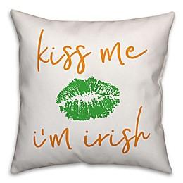 Designs Direct St. Patrick's Kiss Me I'm Irish Square Throw Pillow
