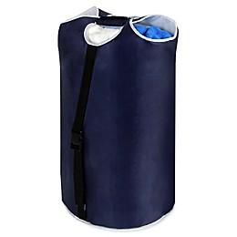 Padded Laundry Hamper Duffle in Blue
