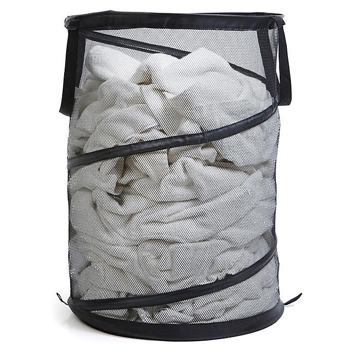 Alternate image 1 for Spiral Pop-Up Laundry Hamper in Black