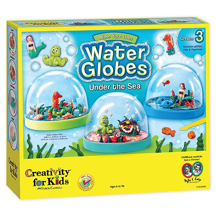 Alternate image 1 for Creativity for Kids Make Your Own Water Globes Kit