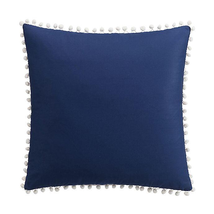 Alternate image 1 for Kim Parker Leila Square Throw Pillow in Navy/White