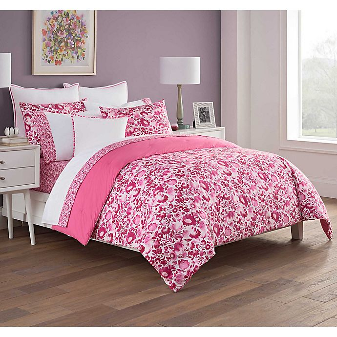 Alternate image 1 for Kim Parker Fiona 7-Piece Reversible Queen Comforter Set