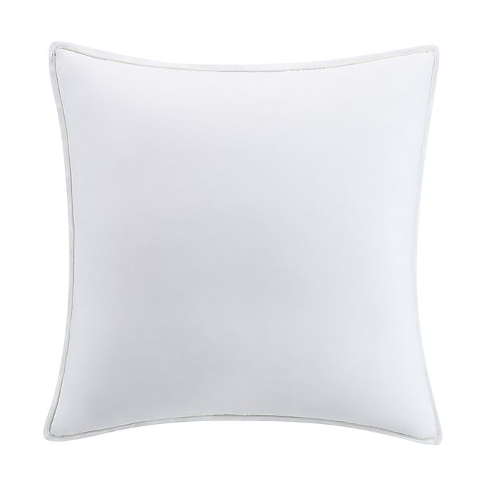 Alternate image 1 for Kim Parker Primavera European Pillow Sham in White/Aqua