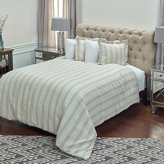 Alternate image 1 for Rizzy Home Adeline King Duvet Cover in Ivory