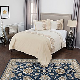 Rizzy Home Alysa Collection Embroidered Duvet Cover Set
