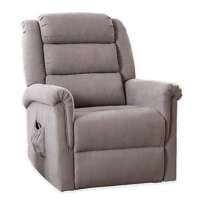 Abbyson Living Ethan Power Lift Recliner in Grey