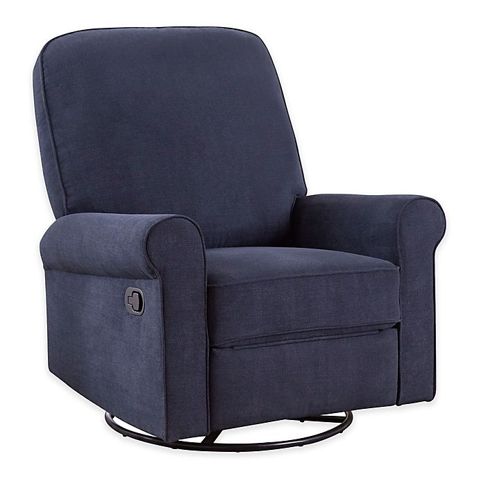 Alternate image 1 for Abbyson Living® Hayden Swivel Glider Recliner in Navy