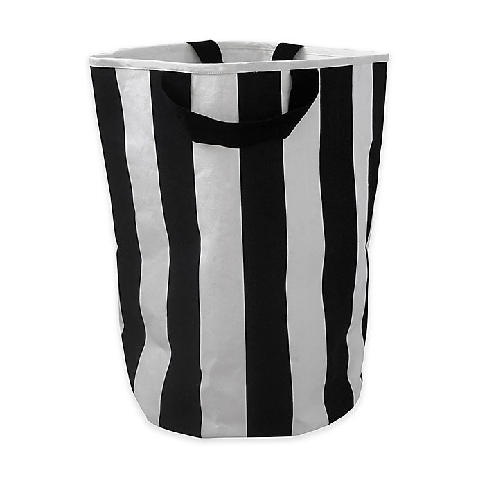 Alternate image 1 for Wildfire Teepess® Stripe Toy Storage Bag with Handles in Black/White