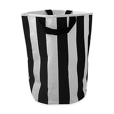 Wildfire Teepess® Stripe Toy Storage Bag with Handles in Black/White