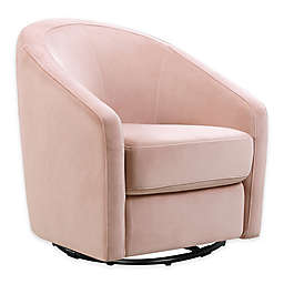 Babyletto Madison Swivel Glider in Blush Pink Velvet