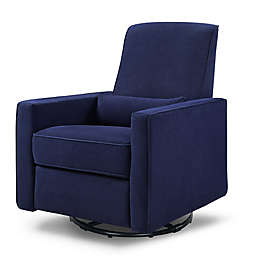 DaVinci Piper Upholstered Glider Recliner in Navy