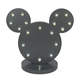 Disney® Mickey Mouse Novelty LED Table Lamp in Charcoal
