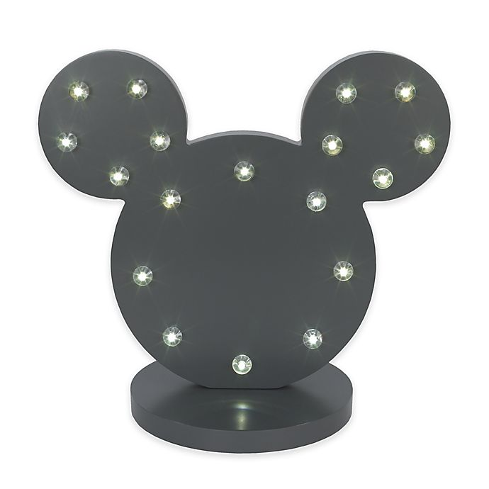 Alternate image 1 for Disney® Mickey Mouse Novelty LED Table Lamp in Charcoal