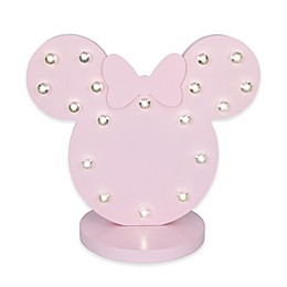 Disney® Minnie Mouse Novelty LED Table Lamp in Pink