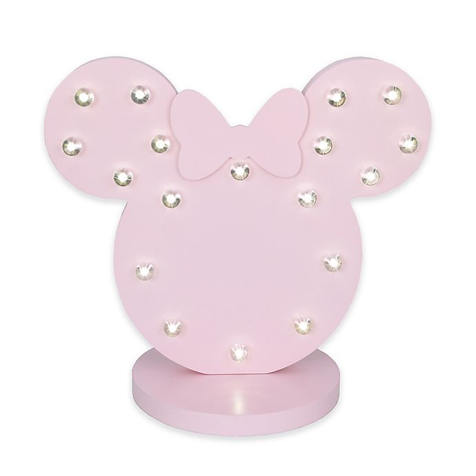 Alternate image 1 for Disney® Minnie Mouse Novelty LED Table Lamp in Pink