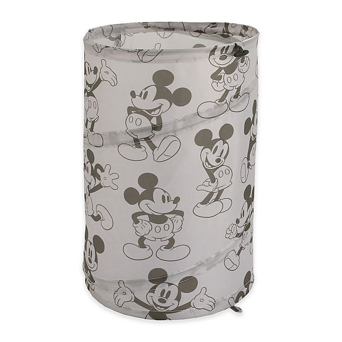 Alternate image 1 for Disney® Mickey Mouse Round Pop-Up Hamper in Grey