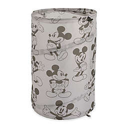Disney® Mickey Mouse Round Pop-Up Hamper in Grey