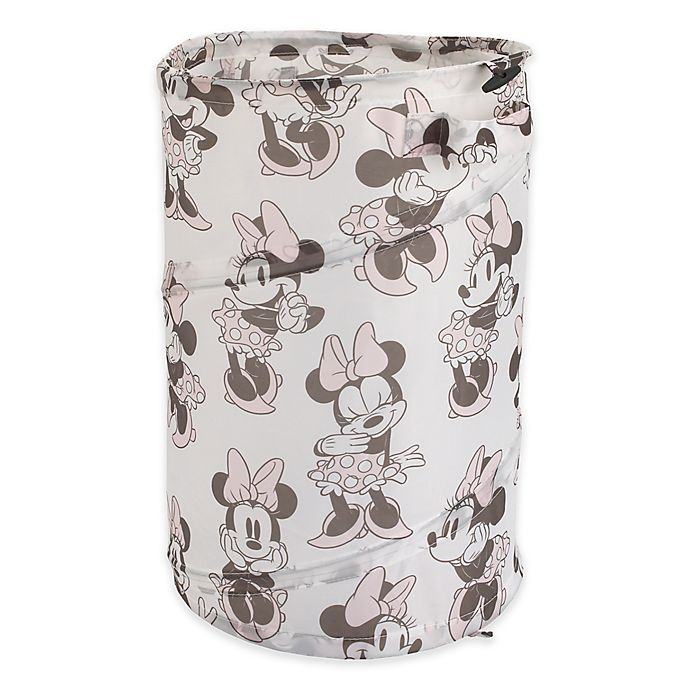 Alternate image 1 for Disney® Minnie Mouse Round Pop-Up Hamper in Pink
