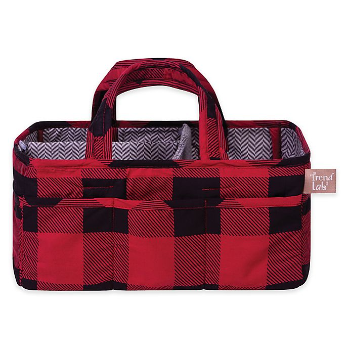 Alternate image 1 for Trend Lab® Buffalo Check Storage Caddy in Red/Black