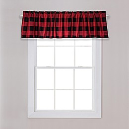 Trend Lab® Buffalo Check Window Valance in Red/Black