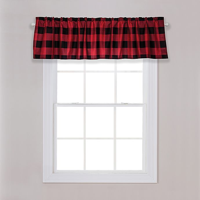 Alternate image 1 for Trend Lab® Buffalo Check Window Valance in Red/Black