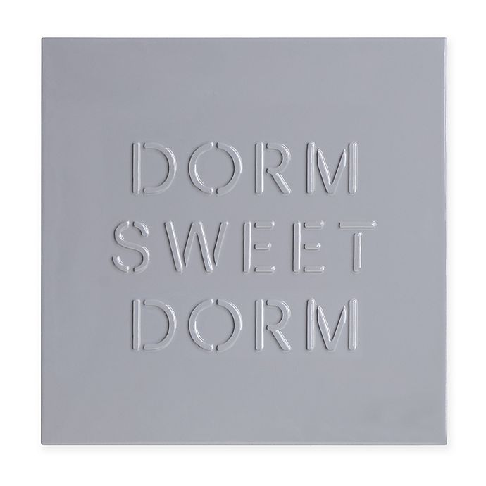 Alternate image 1 for 16-Inch Dorm Sweet Dorm Canvas Wrapped Wall Art