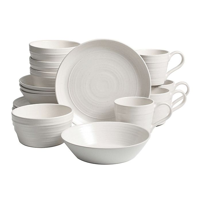 Alternate image 1 for Bee & Willow™ Home Milbrook 16-Piece Dinnerware Set in White