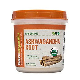 BareOrganics® 8 oz. Raw Organic Ashwagan Root Powder