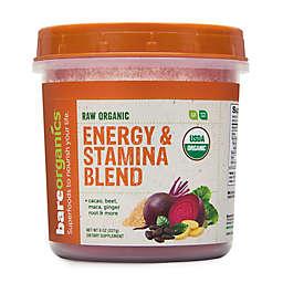 BareOrganics® 8 oz. Raw Organic Energy and Stamina Blend Powder