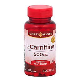 Nature's Reward 60-Count 500 mg L-Carnitine Quick Release Capsules