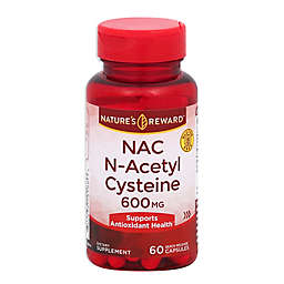 Nature's Reward 60-Count 600 mgN-Acetyl Cysteine (NAC)Quick Release Capsules