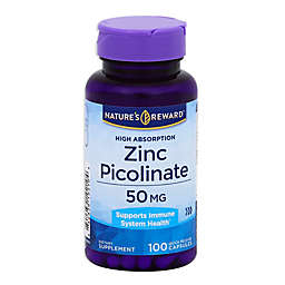 Nature's Reward 100-Count 50 mg High Absorption Zinc Picolinate Quick Release Capsules