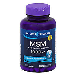Nature's Rewards 100-Count 1000 mg MSM (Methylsulfonylmethane) Quick Release Capsules