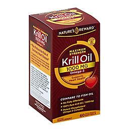 Nature's Reward 60-Count 1000 mg Maximum Strength Krill Oil Quick Release Softgels
