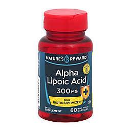 Nature's Rewards 60-Count 300 mg Alpha Lipoc Acid + Biotin Optimizer Quick Release Capsules