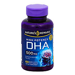 Nature's Rewards 60-Count 500 mg High Potency DHA Enteric Coated Softgels