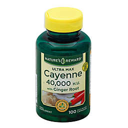 Nature's Reward 100-Count 40,000 H.U Ultra Max Cayenne with Ginger Root