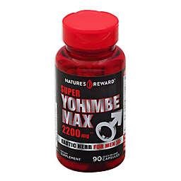 Nature's Reward 90-Count 2200 mg Super Yohime Max Quick Release Capsules