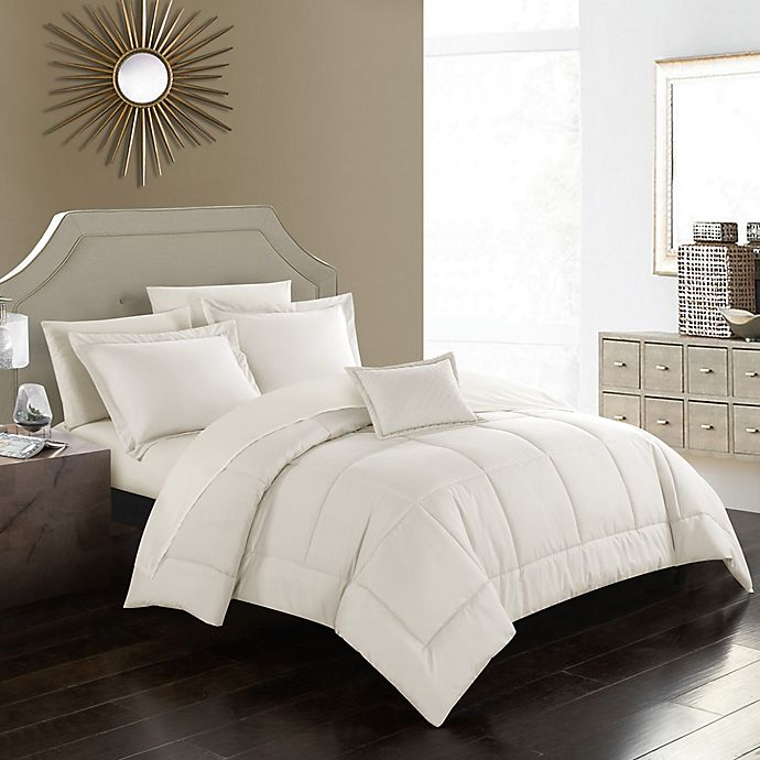 Alternate image 1 for Joshuah 8-Piece Queen Comforter Set in Beige