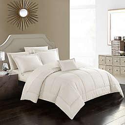 Joshuah 8-Piece Queen Comforter Set in Beige