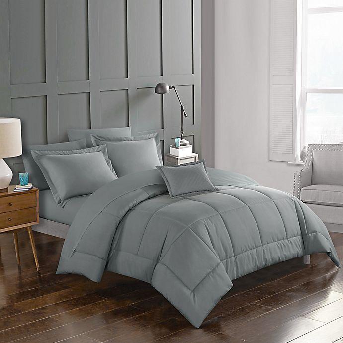 Alternate image 1 for Joshuah 8-Piece Queen Comforter Set in Grey