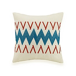 Jessica Simpson Caicos Square Throw Pillow in Turquoise