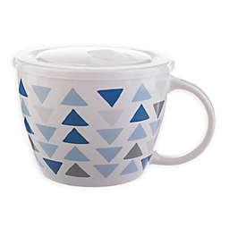 Geometric Triangles 26 oz. Soup Mug with Lid