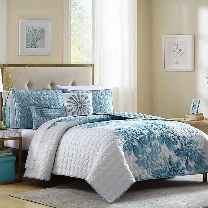 Alternate image 1 for Brooklyn Full/Queen Quilt Set in Blue