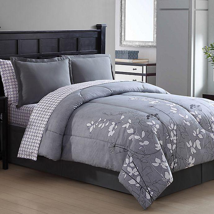 Alternate image 1 for Ellison Bainbridge Reversible Twin Comforter Set in Grey