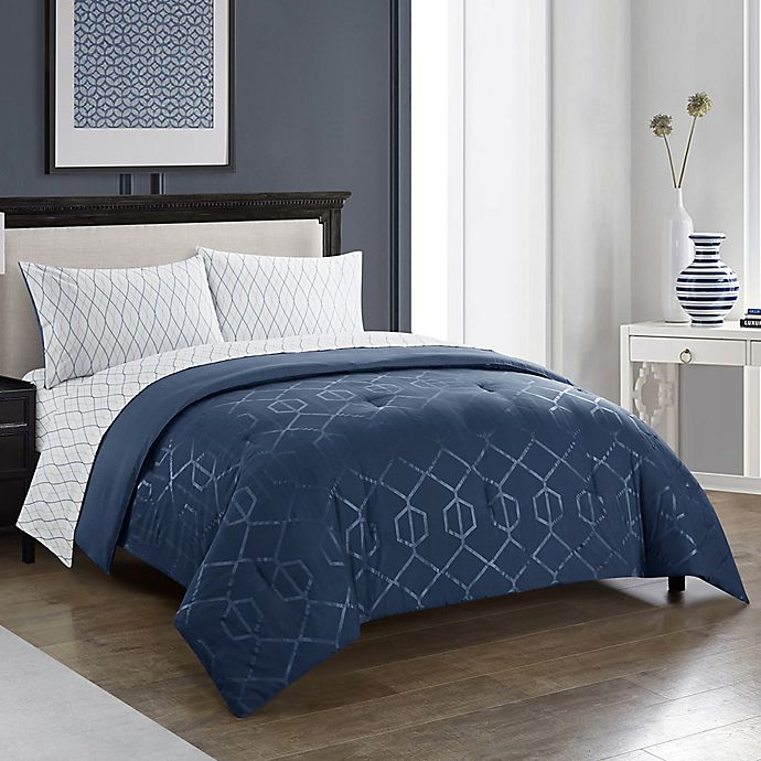 Alternate image 1 for Harper 5-Piece Twin Comforter Set in Indigo