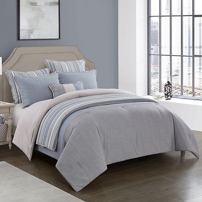 Alternate image 1 for Kayden 7-Piece Reversible Comforter Set